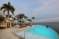 Swimming pool at the Bannister Hotel and Yacht Club, Samana, Dominican Republic, in the Caribbean. Picture by Manuel Cohen