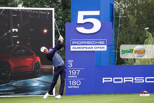 Maximilian Kieffer (GER) in action during the ProAm ahead of the Porsche European Open, Green Eagle Golf Club, Hamburg, Germany. 04/09/2019<br /> Picture: Golffile   Phil Inglis<br /> <br /> <br /> All photo usage must carry mandatory copyright credit (© Golffile   Phil Inglis)