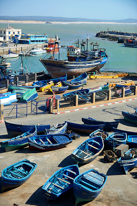 fishing boats of thye port of Essaouira, Morocco