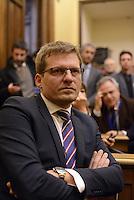 Roma, 27 Gennaio 2015.<br /> Aris Prodani .<br /> Conferenza stampa alla Camera dei Deputati dei 9 Parlamentari usciti dal Movimento 5 Stelle.