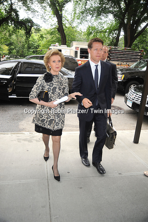 Lily Safra attends Marvin Hamlisch's funeral on August 14, 2012 .at Temple Emanuel in New York City.