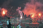 06.02.2019,  GER; DFB Pokal, Holstein Kiel vs FC Augsburg ,DFL REGULATIONS PROHIBIT ANY USE OF PHOTOGRAPHS AS IMAGE SEQUENCES AND/OR QUASI-VIDEO, im Bild Feature die Fans von Augsburg zuenden Pyrotechnik  Foto © nordphoto / Witke
