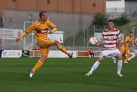 Nicky Law passing the ball in the Hamilton Academical v Motherwell friendly match played at New Douglas Park, Hamilton on 24.7.12..