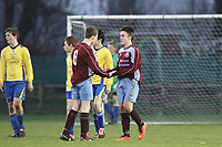 Aaron Connolly (At age 14) celebrates after scoring against St. Bernards.<br /> <br /> Mervue Unted v St Bernards, U16 Connacht Cup 2014/2015 3rd Round, Fahy's Field, Mervue, Galway, 13/12/2014