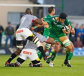 9th September 2017, Galway Sportsground, Galway, Ireland; Guinness Pro14 Rugby, Connacht versus Southern Kings; Ultan Dillane holds on to the ball for Connacht
