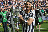 Millwall's Lee Gregory celebrates winning the Division One Play-Off Final during Bradford City vs Millwall, Sky Bet EFL League 1 Play-Off Final at Wembley Stadium on 20th May 2017