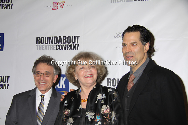 Chip Zien & Christopher Innvar & Joyce Van Patten (cast) at Opening Night of Roundabout Theatre Company's Broadway production of The People in the Picture on April 28, 2011 at Studio 54 Theatre, New York City, New York. (Photo by Sue Coflin/Max Photos)