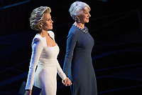 Jane Fonda and Helen Mirren present the Oscar&reg; for best actor in a leading role during the live ABC Telecast of the 90th Oscars&reg; at the Dolby&reg; Theatre in Hollywood, CA on Sunday, March 4, 2018.<br /> *Editorial Use Only*<br /> CAP/PLF/AMPAS<br /> Supplied by Capital Pictures