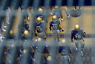 Annapolis, MD - September 8, 2018: Navy Midshipmen players about to take the field before game between Memphis and Navy at  Navy-Marine Corps Memorial Stadium in Annapolis, MD. (Photo by Phillip Peters/Media Images International)