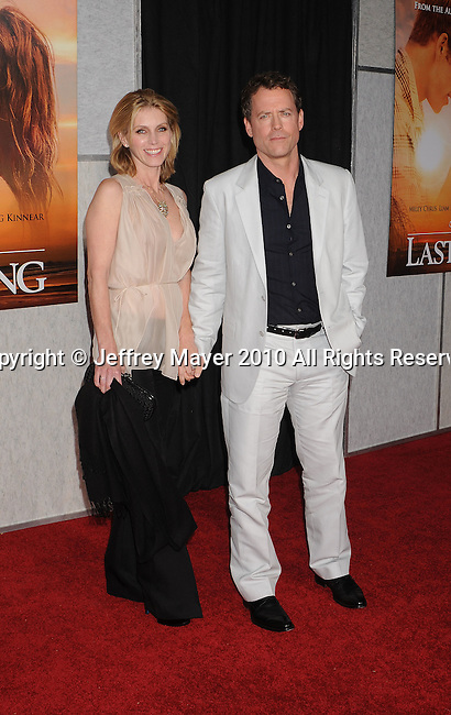 "HOLLYWOOD, CA. - March 25: Greg Kinnear (R) and wife Helen Labdon  arrive to ""The Last Song"" Los Angeles Premiere at ArcLight Hollywood on March 25, 2010 in Hollywood, California."