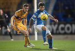 St Johnstone v Motherwell&hellip;17.12.16     McDiarmid Park    SPFL<br />Richie Foster and Jack McMillan<br />Picture by Graeme Hart.<br />Copyright Perthshire Picture Agency<br />Tel: 01738 623350  Mobile: 07990 594431