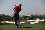 Dubai World Championship Golf. Earth Course,.Jumeirah Golf Estate, Dubai, U.A.E...Sergio Garcia teeing off from the 4th tee during the third round of the Dubai World Golf championship..Photo: Fran Caffrey/www.golffile.ie...