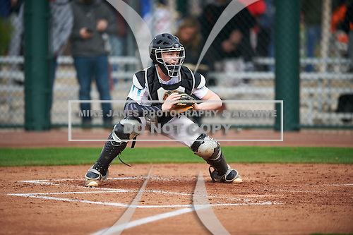 Kade Garmany (2) of North Webster High School in Sarepta, Louisiana during the Under Armour All-American Pre-Season Tournament presented by Baseball Factory on January 14, 2017 at Sloan Park in Mesa, Arizona.  (Mike Janes/Mike Janes Photography)