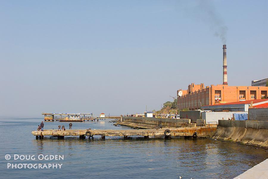 Decaying piers at the Sportivnaya Harbor, Vladivostok, Russia
