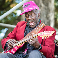 "Leo ""Bud"" Welch performs at the 2014 Crescent City Blues and BBQ Festival in New Orleans, LA."
