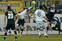 Amauri Carvalho de Oliveira rovesciata Parma  .Calcio Parma vs Juventus.Campionato Serie A - Parma 13/1/2013 Stadio Ennio Tardini.Football Calcio 2012/2013.Foto Federico Tardito Insidefoto.
