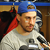 Brendan Smith #42 of the New York Rangers speaks to the media at Madsion Square Garden Training Center in Greenburgh, NY on Thursday, May 11, 2017. The Rangers' season ended on Tuesday, May 9 when the team lost to the Ottawa Senators four games to two in the second round of the Stanley Cup Playoffs.