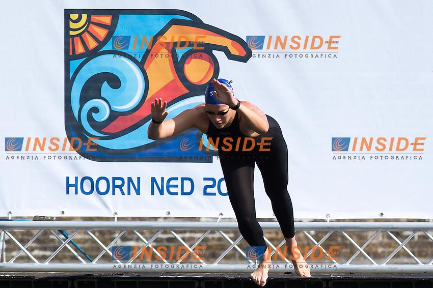 HUSKISSON Danielle GBR gold medal<br /> Hoorn, Netherlands <br /> LEN 2016 European Open Water Swimming Championships <br /> Open Water Swimming<br /> Women's 5km<br /> Day 02 12-07-2016<br /> Photo Giorgio Perottino/Deepbluemedia/Insidefoto
