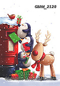 Roger, CHRISTMAS ANIMALS, WEIHNACHTEN TIERE, NAVIDAD ANIMALES, paintings+++++,GBRM2128,#XA#