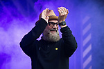 © Joel Goodman - 07973 332324 . 01/07/2017 . Manchester , UK . Graeme Park . Hacienda Classical play at the Castlefield Bowl as part of Sounds of the City , during the Manchester International Festival . A collaboration between DJs Mike Pickering and Graeme Park and the Manchester Camerata orchestra , Hacienda Classical reworks music by bands including the Happy Mondays and New Order and features Manchester musicians including Rowetta and Peter Hook . Photo credit : Joel Goodman