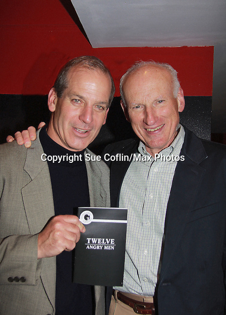 "John Bolger (Guiding Light's ""Phillip Spaulding"", One Life To Live's ""John Sykes"", Another World, Loving and most recently General Hospital)  stars along with Guiding Light James Rebhorn ""Bradley Raines"" and The Doctors in Twelve Angry Men on opening night, March 16, 2012 at the George Street Playhouse, New Brunswick, NJ.  (Photo by Sue Coflin/Max Photos)"