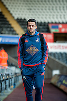 Lukasz Fabianski of Swansea arrives at the Liberty Stadium prior to the Barclays Premier League match between Swansea City and West Ham United played at the Liberty Stadium, Swansea  on December 20th 2015