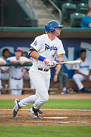 Matt Jones (40) of the Ogden Raptors at bat against the Grand Junction Rockies in Pioneer League action at Lindquist Field on July 6, 2015 in Ogden, Utah. Ogden defeated Grand Junction 8-7. (Stephen Smith/Four Seam Images)