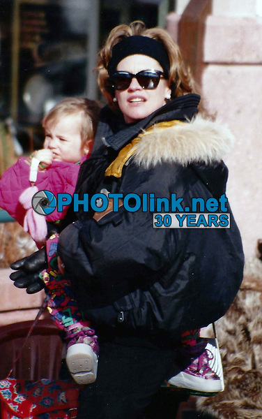 CelebrityArchaeology.com<br /> 1991 FILE PHOTO<br /> MELANIE Griffith baby is Dakota Johnson<br /> Photo to By John Barrett-PHOTOlink.net<br /> -----<br /> CelebrityArchaeology.com, a division of PHOTOlink,<br /> preserving the art and cultural heritage of celebrity<br /> photography from decades past for the historical<br /> benefit of future generations, for these images are<br /> significant, both historically and aesthetically.<br /> ——<br /> Follow us:<br /> www.linkedin.com/in/adamscull<br /> Instagram: CelebrityArchaeology<br /> Blog: CelebrityArchaeology.info<br /> Twitter: celebarcheology