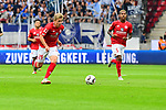 Der Mainzer Jonathan Burkardt am Ball <br />  beim Spiel in der Fussball Bundesliga, 1. FSV Mainz 05 - Hertha BSC.<br /> <br /> Foto &copy; PIX-Sportfotos *** Foto ist honorarpflichtig! *** Auf Anfrage in hoeherer Qualitaet/Aufloesung. Belegexemplar erbeten. Veroeffentlichung ausschliesslich fuer journalistisch-publizistische Zwecke. For editorial use only.