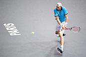 3rd November 2017, Paris, France; Rolex Masters tennis tournament;  John Isner (usa)in his game against Juan Martin Del Potro (Arg)