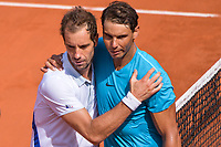 Richard Gasquet fof France and Rafael Nadal of Spain during Day 7 of the French Open 2018 on June 2, 2018 in Paris, France. (Photo by Baptiste Fernandez/Icon Sport)