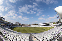 a fish eye view of Lords Cricket Ground during Middlesex CCC vs Lancashire CCC, Specsavers County Championship Division 2 Cricket at Lord's Cricket Ground on 11th April 2019