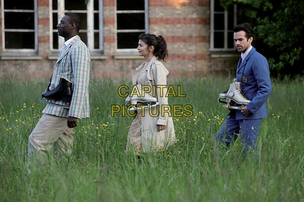 Omar Sy, Romain Duris, Audrey Tautou<br /> in Mood Indigo (2013)<br /> (L'ecume des jours)<br /> *Filmstill - Editorial Use Only*<br /> CAP/NFS<br /> Image supplied by Capital Pictures