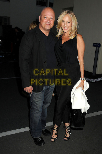Michael Chiklis &amp; guest<br /> &quot;Breaking Bad&quot; Final Episodes Los Angeles Premiere Screening held at Sony Pictures Studios, Culver City, California, USA, 24th July 2013.<br /> full length black dress jacket blazer jeans <br /> CAP/ADM/BP<br /> &copy;Byron Purvis/AdMedia/Capital Pictures