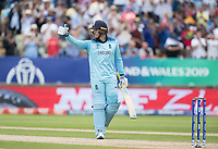 Jason Roy (England) gives the thumbs up on his fifty during Australia vs England, ICC World Cup Semi-Final Cricket at Edgbaston Stadium on 11th July 2019
