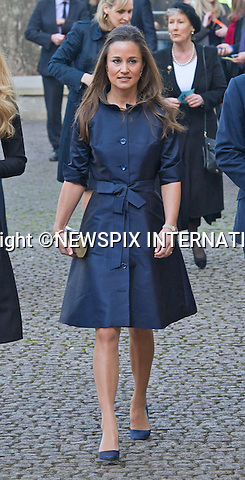 PIPPA MIDDLETON AND BEN FOGLE<br /> attend Sir David Frost Memorial, Westminster Abbey, London_13/03/2014<br /> Mandatory Credit Photo: &copy;Dias/NEWSPIX INTERNATIONAL<br /> <br /> **ALL FEES PAYABLE TO: &quot;NEWSPIX INTERNATIONAL&quot;**<br /> <br /> IMMEDIATE CONFIRMATION OF USAGE REQUIRED:<br /> Newspix International, 31 Chinnery Hill, Bishop's Stortford, ENGLAND CM23 3PS<br /> Tel:+441279 324672  ; Fax: +441279656877<br /> Mobile:  07775681153<br /> e-mail: info@newspixinternational.co.uk