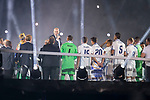 Real Madrid coach Zinedine Zidane talking during the celebration of the 13th UEFA Championship at Santiago Bernabeu Stadium in Madrid, June 04, 2017. Spain.<br /> (ALTERPHOTOS/BorjaB.Hojas)