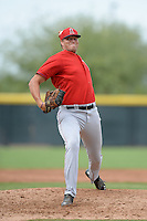 Los Angeles Angels of Anaheim pitcher Adam McCreery (49) during an Instructional League game against the Arizona Diamondbacks on October 7, 2014 at Salt River Fields at Talking Stick in Scottsdale, Arizona.  (Mike Janes/Four Seam Images)