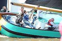 SKUTSJESILEN: LEMMER: Baai van Lemmer, 31-05-2014, Lemmer Ahoy, Douwe Visser wint met het skûtsje van Grou, ©foto Martin de Jong