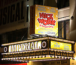 Theatre Marquee for the Broadway Opening Night Curtain Call for  'Nice Work If You Can Get It' at the ImperialTheatre on 4/24/2012 in New York City.