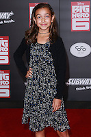 HOLLYWOOD, LOS ANGELES, CA, USA - NOVEMBER 04: Megan Richie arrives at the Los Angeles Premiere Of Disney's 'Big Hero 6' held at the El Capitan Theatre on November 4, 2014 in Hollywood, Los Angeles, California, United States. (Photo by David Acosta/Celebrity Monitor)