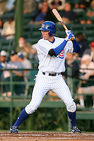 April 16, 2009:  Designated hitter Tyler Colvin of the Daytona Cubs, Florida State League Class-A affiliate of the Chicago Cubs, during a game at Jackie Robinson Stadium in Daytona Beach, FL.  Photo by:  Mike Janes/Four Seam Images