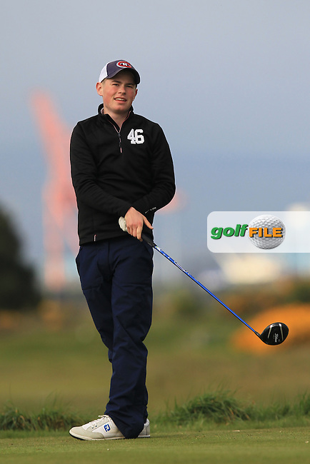 Julian Hausweiler (GER) on the 3rd tee during Round 1 of the Flogas Irish Amateur Open Championship at Royal Dublin on Thursday 5th May 2016.<br /> Picture:  Thos Caffrey / www.golffile.ie