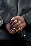 Istanbul, Turkey, Muslim man with a Misbaha, prayer beads,