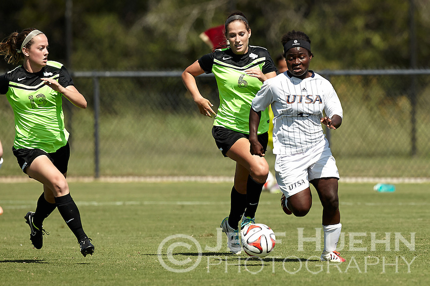 SAN ANTONIO, TX - OCTOBER 5, 2014: The North Texas University Mean Green defeat the University of Texas at San Antonio Roadrunners 2-0 at the UTSA Park West Athletics Complex. (Photo by Jeff Huehn)