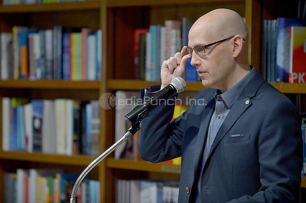"CORAL GABLES, FL - JUNE 09: Author Brad Meltzer  signs copies of his new book "" The House of Secrets '' at Books and Books on June 9, 2016 in Coral Gables, Florida.  Credit: MPI10 / MediaPunch"