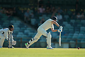 November 4th 2017, WACA Ground, Perth Australia; International cricket tour, Western Australia versus England, day 1; Dawid Malan plays a straight drive during his innings