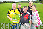 Members of the Abbeyfeale Ruby club prepare for the annual Noelie Roche 7 aside mixed tag ruby competition to be held this Saturday in Abbeyfeale ruby grounds, pictured l-r: Charlie McCarthy, John Moloney, Ger Foley,  Bobby O'Connell and Colette Moloney.