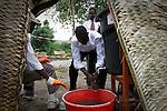 The cholera epidemic in Haiti has already killed 4.500 people and sickened more than 250.000. Centro de asistencia a enfermos del Colera montado por las Hijas de la Caridad en Labranle, una zona rural en la monta-a. Photo by Jose L. Cuesta