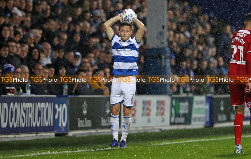 Todd Kane of Queens Park Rangers has a throw in during Queens Park Rangers vs Middlesbrough, Sky Bet EFL Championship Football at Loftus Road Stadium on 9th November 2019